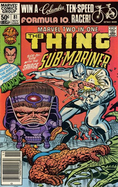 Cover for Marvel Two-in-One (Marvel, 1974 series) #81 [Newsstand]