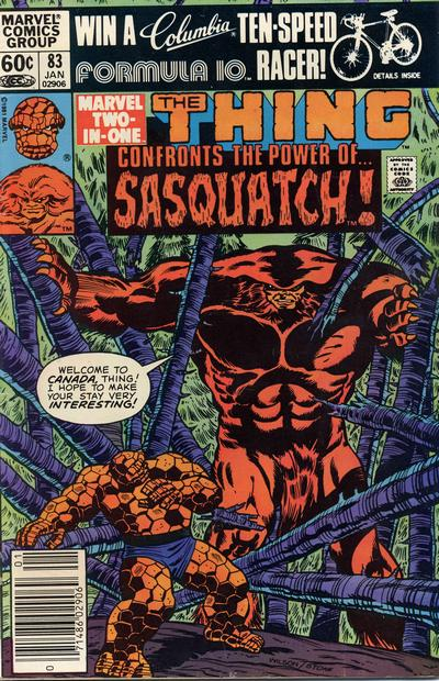 Cover for Marvel Two-in-One (Marvel, 1974 series) #83 [Newsstand]