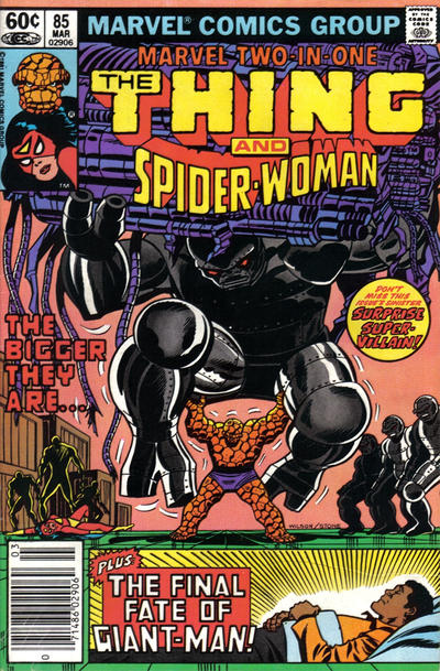 Cover for Marvel Two-in-One (Marvel, 1974 series) #85 [Newsstand]
