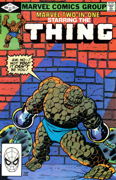 Cover for Marvel Two-in-One (Marvel, 1974 series) #91 [Direct]