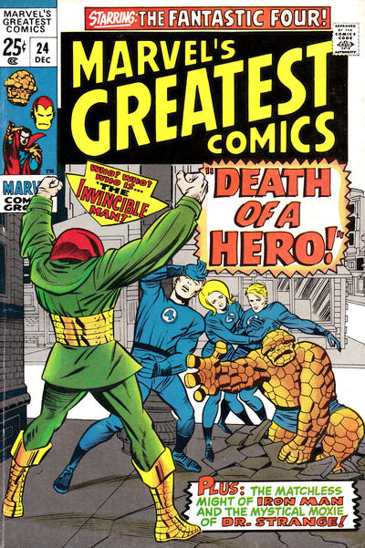 Cover for Marvel's Greatest Comics (Marvel, 1969 series) #24