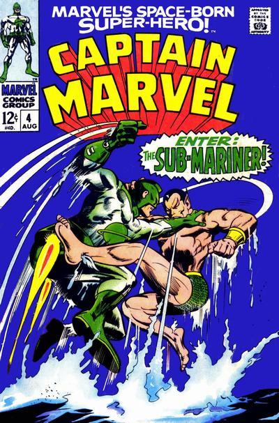 Cover for Marvel's Space-Born Superhero! Captain Marvel (Marvel, 1968 series) #4