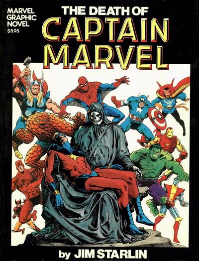 Cover for Marvel Graphic Novel (Marvel, 1982 series) #[1] - The Death of Captain Marvel