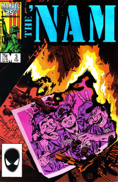 Cover for The 'Nam (Marvel, 1986 series) #3 [Direct]