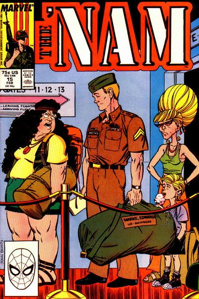 Cover for The 'Nam (Marvel, 1986 series) #15 [Direct]