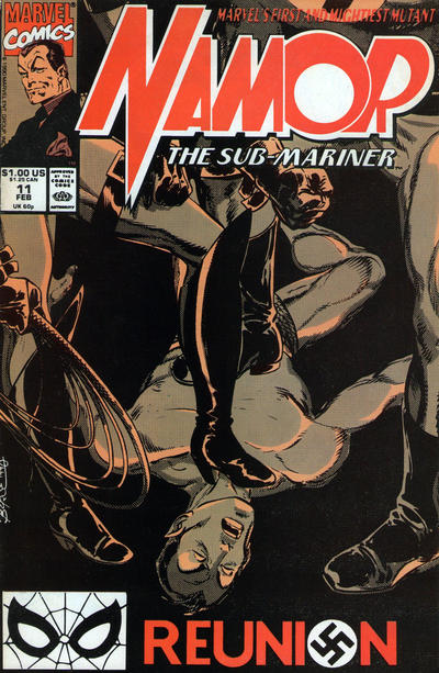 Cover for Namor, the Sub-Mariner (Marvel, 1990 series) #11 [Direct]
