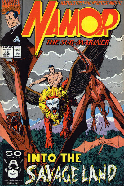 Cover for Namor, the Sub-Mariner (Marvel, 1990 series) #15