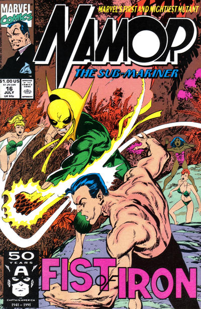 Cover for Namor, the Sub-Mariner (Marvel, 1990 series) #16