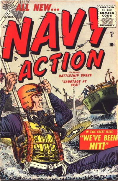Cover for Navy Action (Marvel, 1954 series) #8