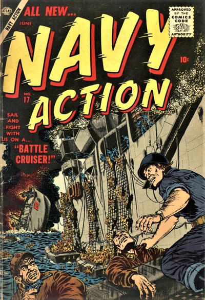 Cover for Navy Action (Marvel, 1957 series) #17