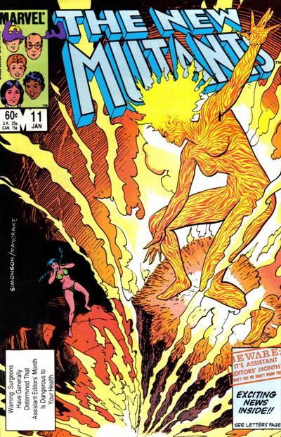 Cover for The New Mutants (Marvel, 1983 series) #11 [Direct Edition]