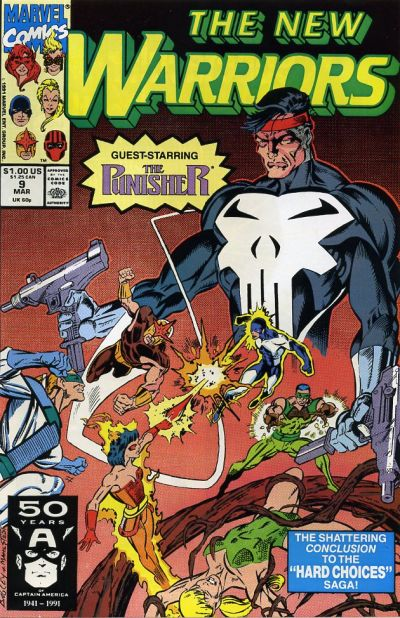 Cover for The New Warriors (Marvel, 1990 series) #9