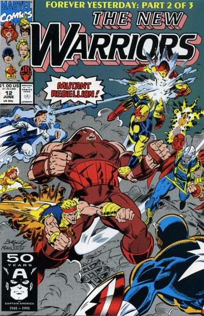 Cover for The New Warriors (Marvel, 1990 series) #12 [Direct]