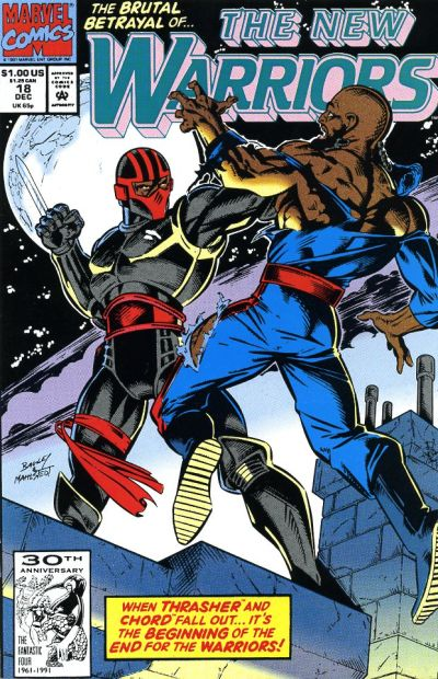 Cover for The New Warriors (Marvel, 1990 series) #18