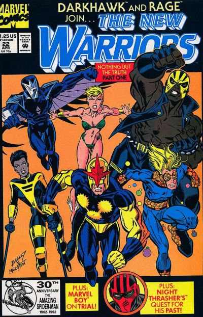 Cover for The New Warriors (Marvel, 1990 series) #22