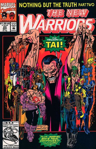 Cover for The New Warriors (Marvel, 1990 series) #23 [Newsstand]