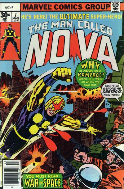 Cover for Nova (Marvel, 1976 series) #7