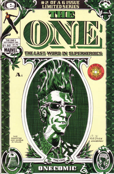 Cover for The One (Marvel, 1985 series) #2