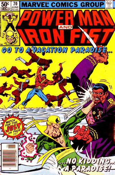 Cover for Power Man and Iron Fist (Marvel, 1981 series) #70 [newsstand]