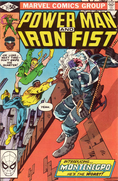 Cover for Power Man and Iron Fist (Marvel, 1981 series) #71 [Newsstand Edition]