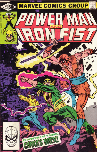 Cover for Power Man and Iron Fist (Marvel, 1981 series) #72