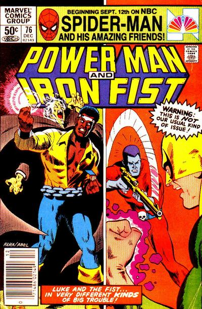 Cover for Power Man and Iron Fist (Marvel, 1981 series) #76