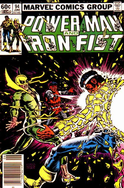 Cover for Power Man and Iron Fist (Marvel, 1981 series) #94 [newsstand 75¢ edition]