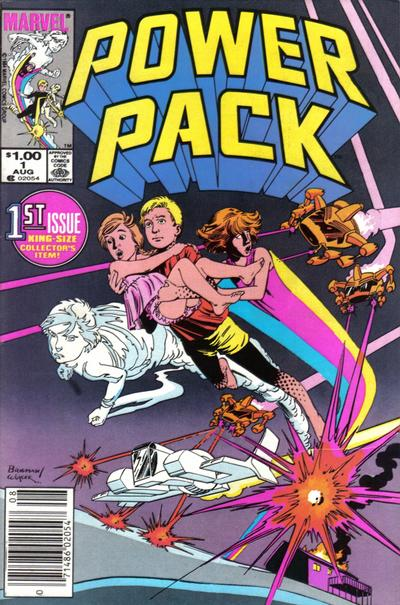 Cover for Power Pack (Marvel, 1984 series) #1 [Newsstand Edition]