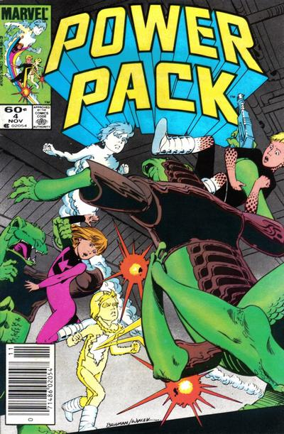 Cover for Power Pack (Marvel, 1984 series) #4 [Direct Edition]