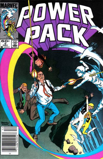 Cover for Power Pack (Marvel, 1984 series) #5 [Direct Edition]
