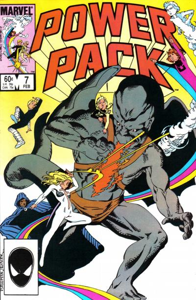 Cover for Power Pack (Marvel, 1984 series) #7 [Newsstand Edition]