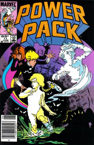 Cover for Power Pack (Marvel, 1984 series) #11 [Direct Edition]