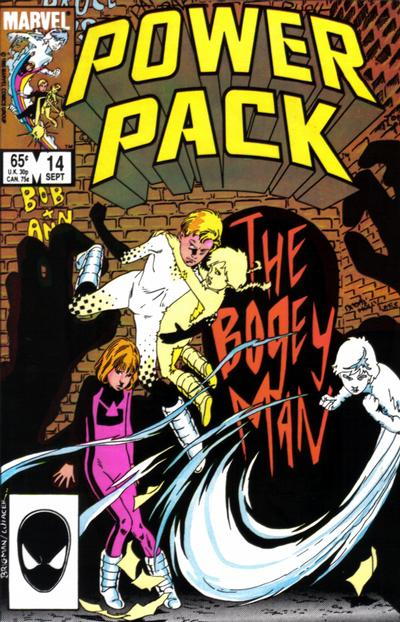 Cover for Power Pack (Marvel, 1984 series) #14 [Direct Edition]