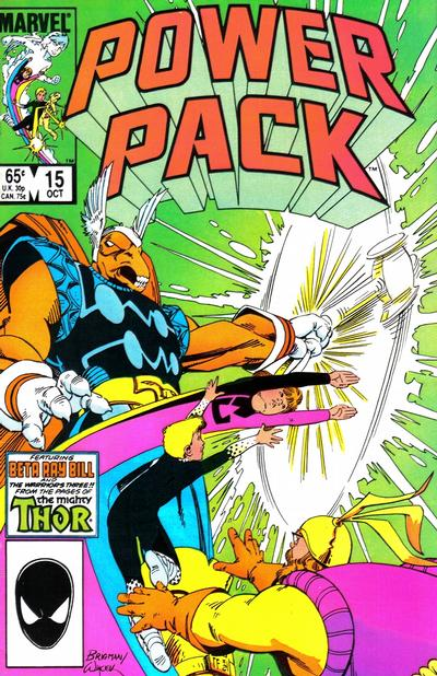 Cover for Power Pack (Marvel, 1984 series) #15 [Direct Edition]