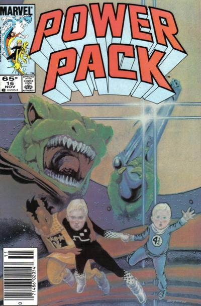 Cover for Power Pack (Marvel, 1984 series) #16 [Newsstand Edition]