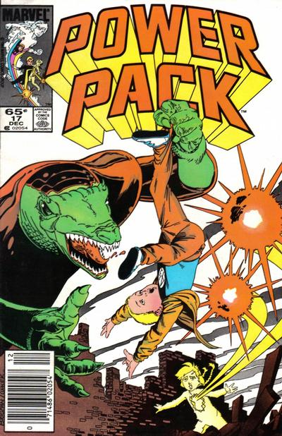 Cover for Power Pack (Marvel, 1984 series) #17 [Newsstand Edition]