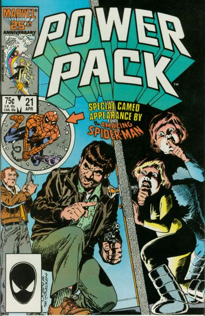 Cover for Power Pack (Marvel, 1984 series) #21 [Direct Edition]