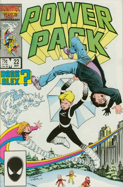 Cover for Power Pack (Marvel, 1984 series) #22 [Direct]