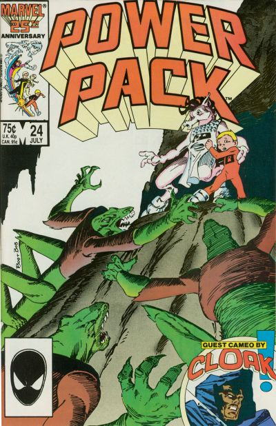 Cover for Power Pack (Marvel, 1984 series) #24 [Direct Edition]