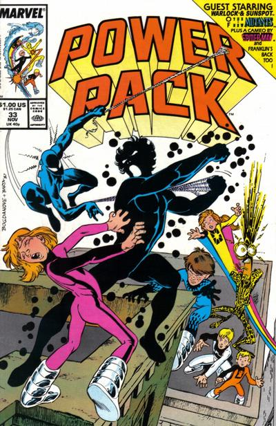 Cover for Power Pack (Marvel, 1984 series) #33