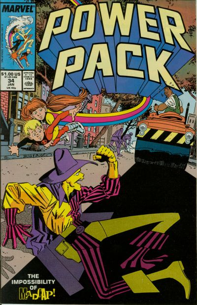 Cover for Power Pack (Marvel, 1984 series) #34