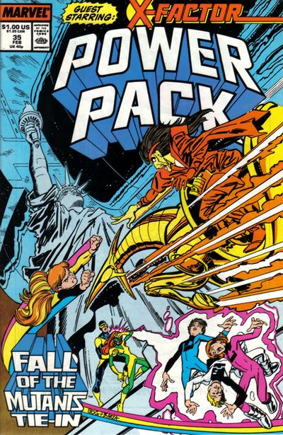 Cover for Power Pack (Marvel, 1984 series) #35