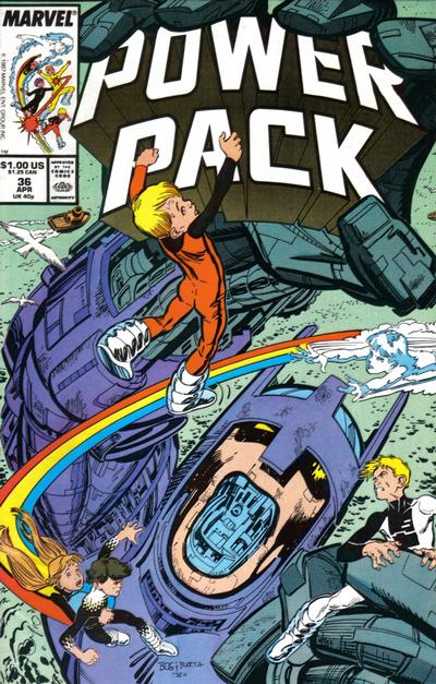 Cover for Power Pack (Marvel, 1984 series) #36