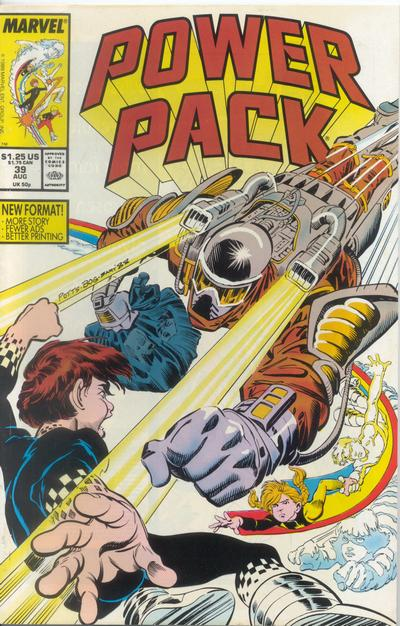 Cover for Power Pack (Marvel, 1984 series) #39