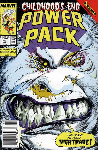 Cover for Power Pack (Marvel, 1984 series) #42