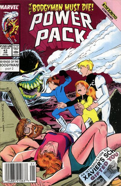 Cover for Power Pack (Marvel, 1984 series) #43
