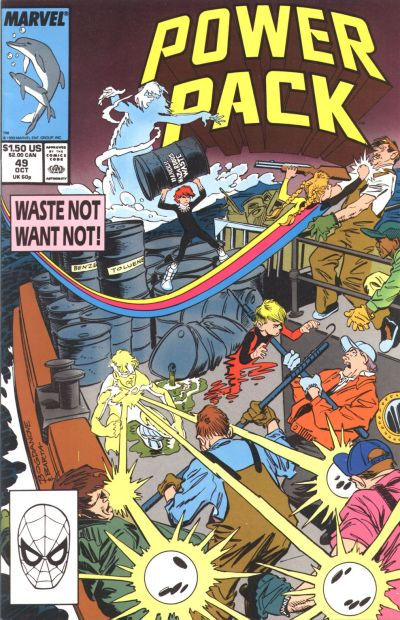 Cover for Power Pack (Marvel, 1984 series) #49