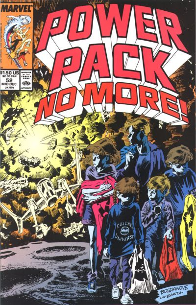 Cover for Power Pack (Marvel, 1984 series) #52