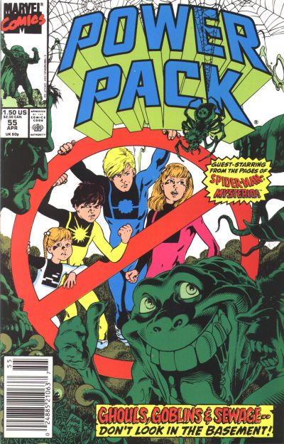 Cover for Power Pack (Marvel, 1984 series) #55