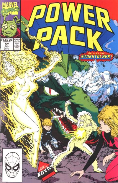Cover for Power Pack (Marvel, 1984 series) #57